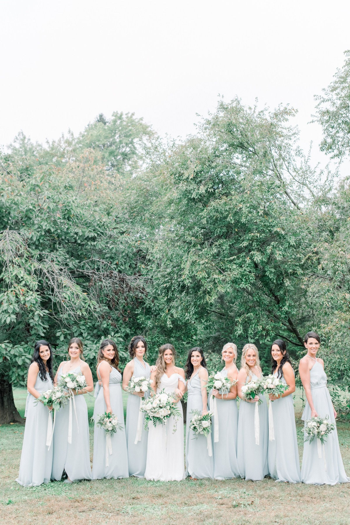 soft green bridesmaids dresses