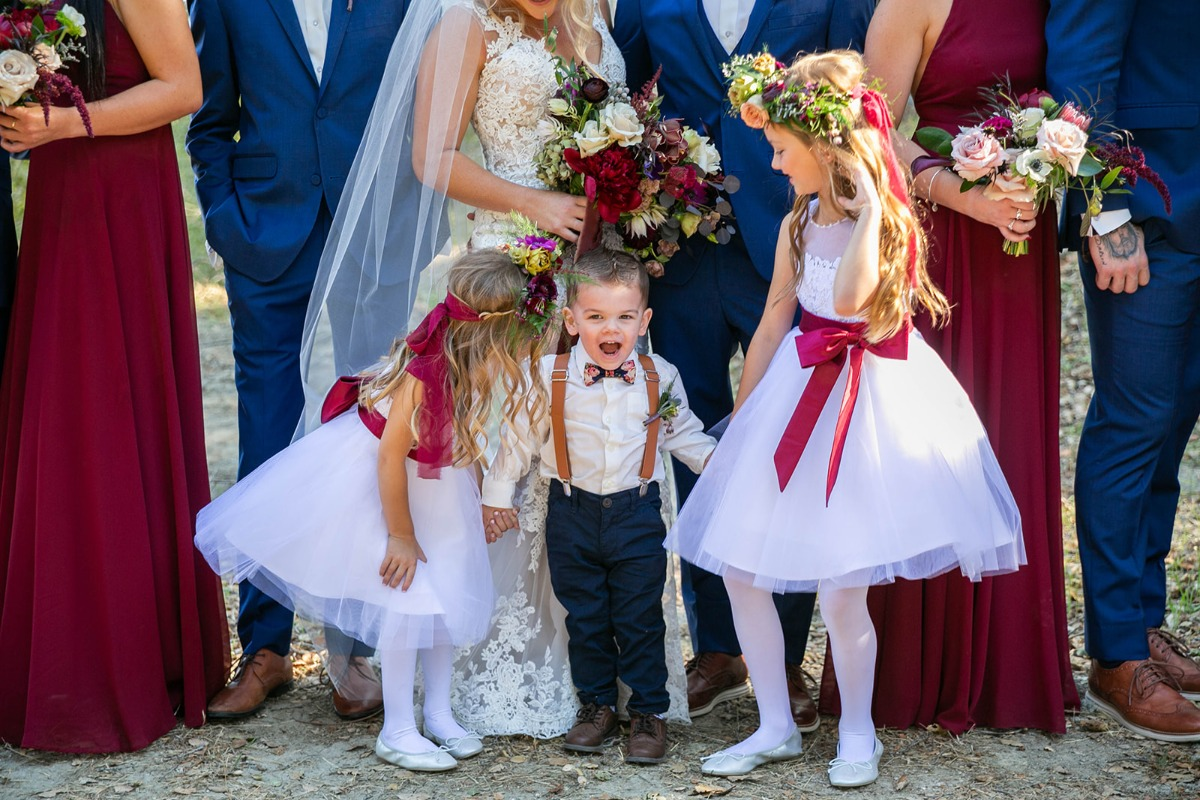 flower girls and tiny ring bearer