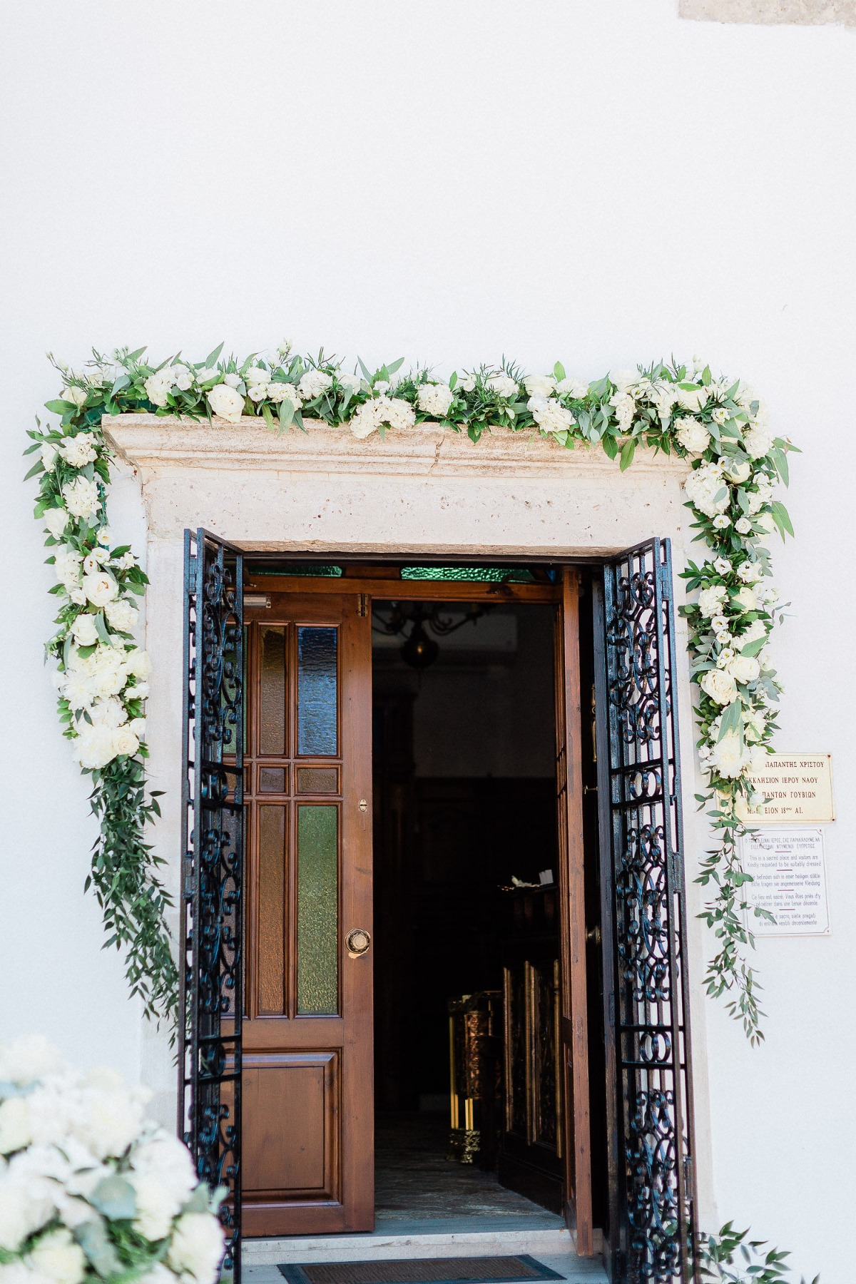 Chic wedding in Greece