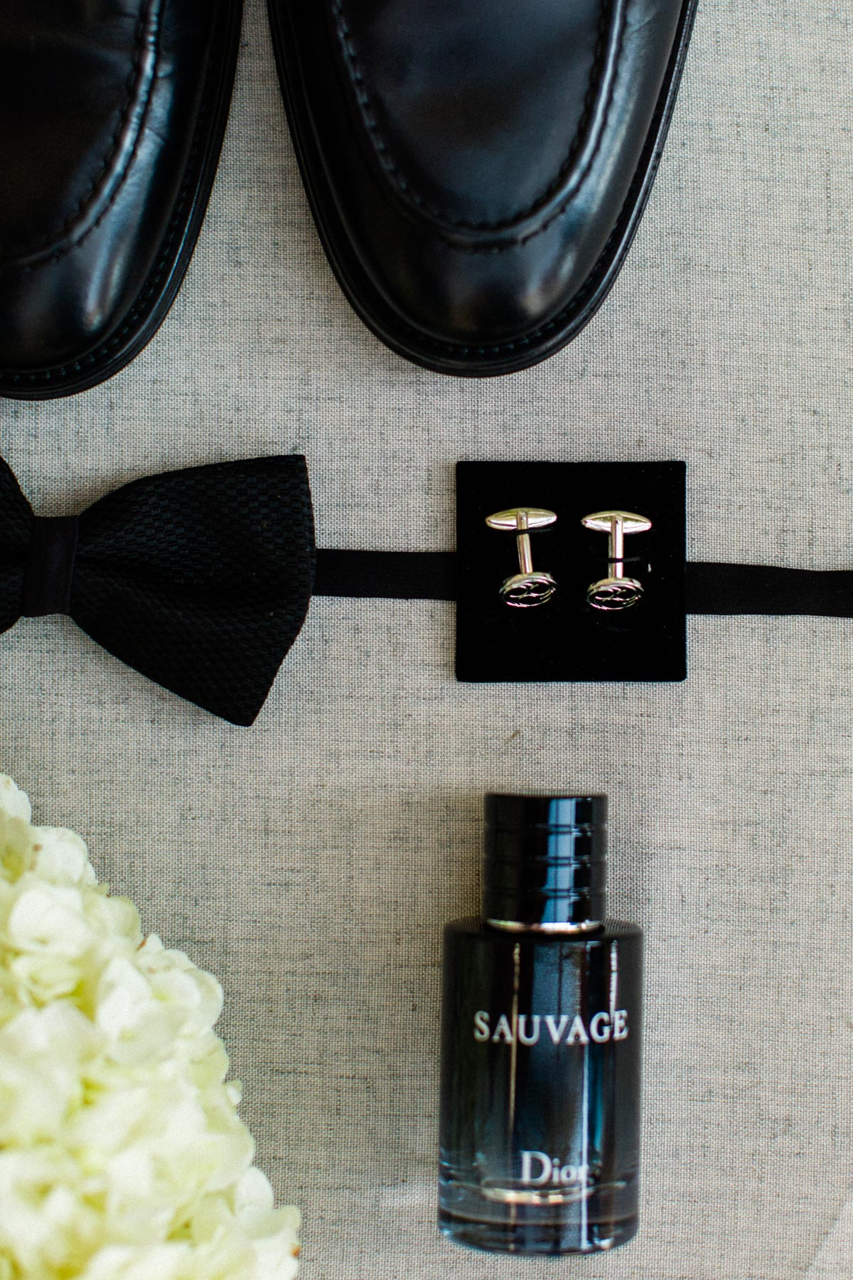 James Bond themed groom accessorites