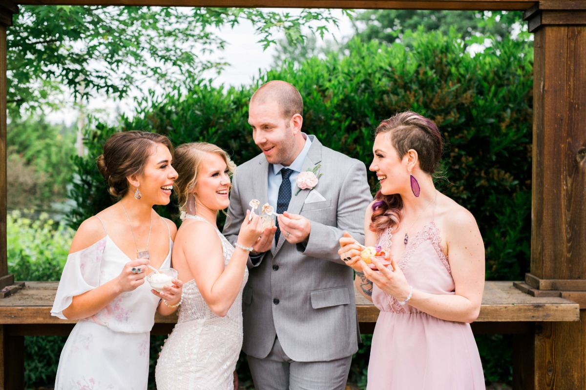 Every wedding needs an ice cream cart