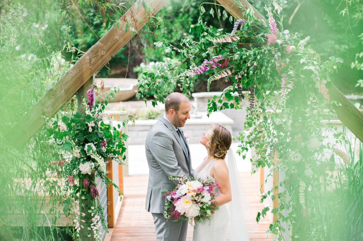 Secret garden elopement at Aurora Vineyards
