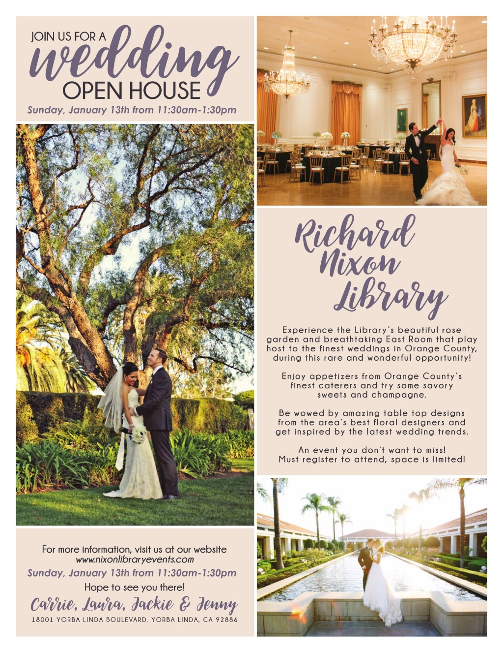 Wedding Open House at the Richard Nixon Library