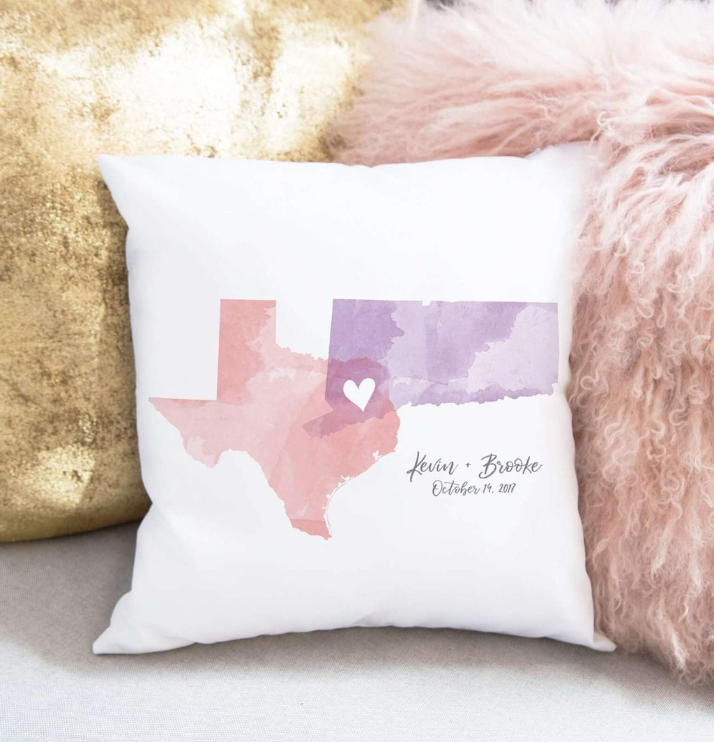 This Watercolor States Pillow from Miss Design Berry is perfect if you're looking to update your home decor! It also makes for a great