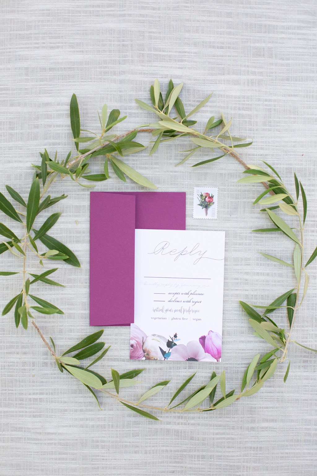 Your guests will be so excited to post when they receive a Truly Custom Response card that matches your Wedding Invitation Suite. Our