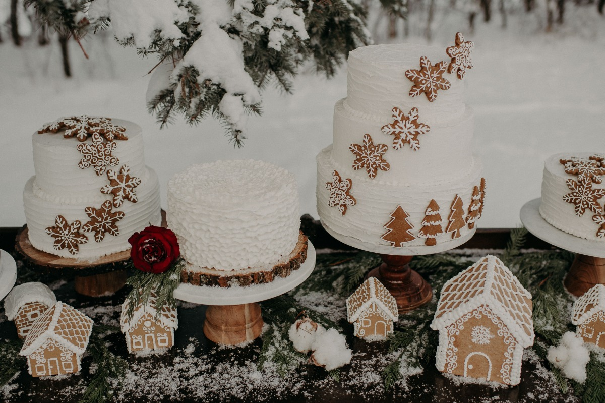 gingerbread wedding cakes