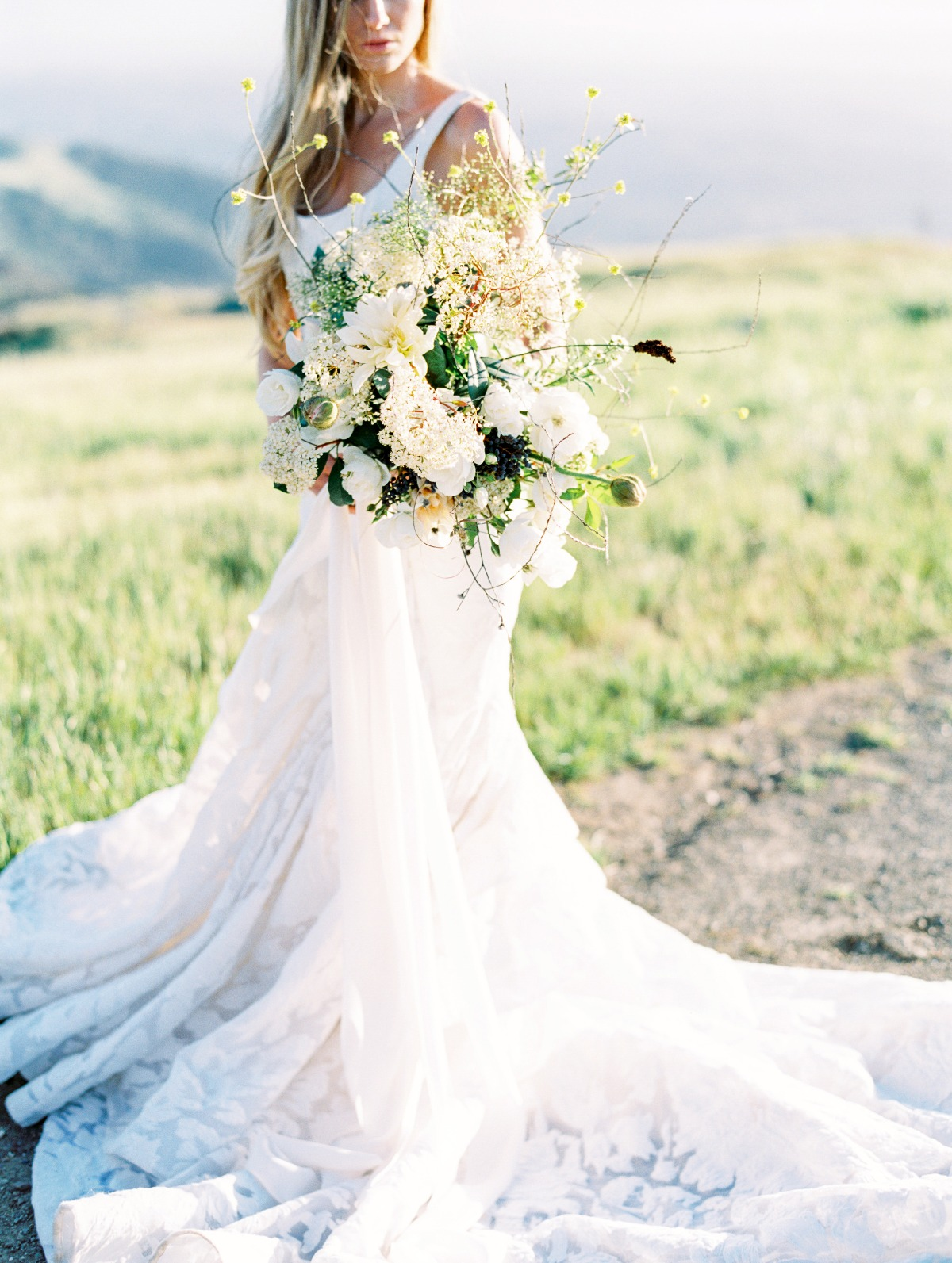 romantic summer bridal style