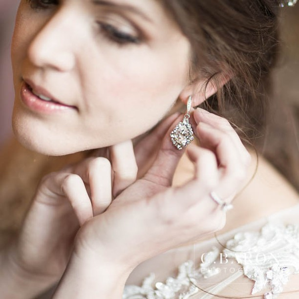 Earrings are my favorite accessory. What is yours? #weddings