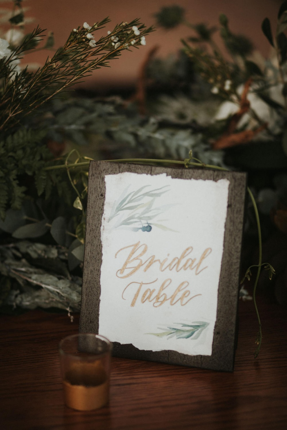 bridal party table sign