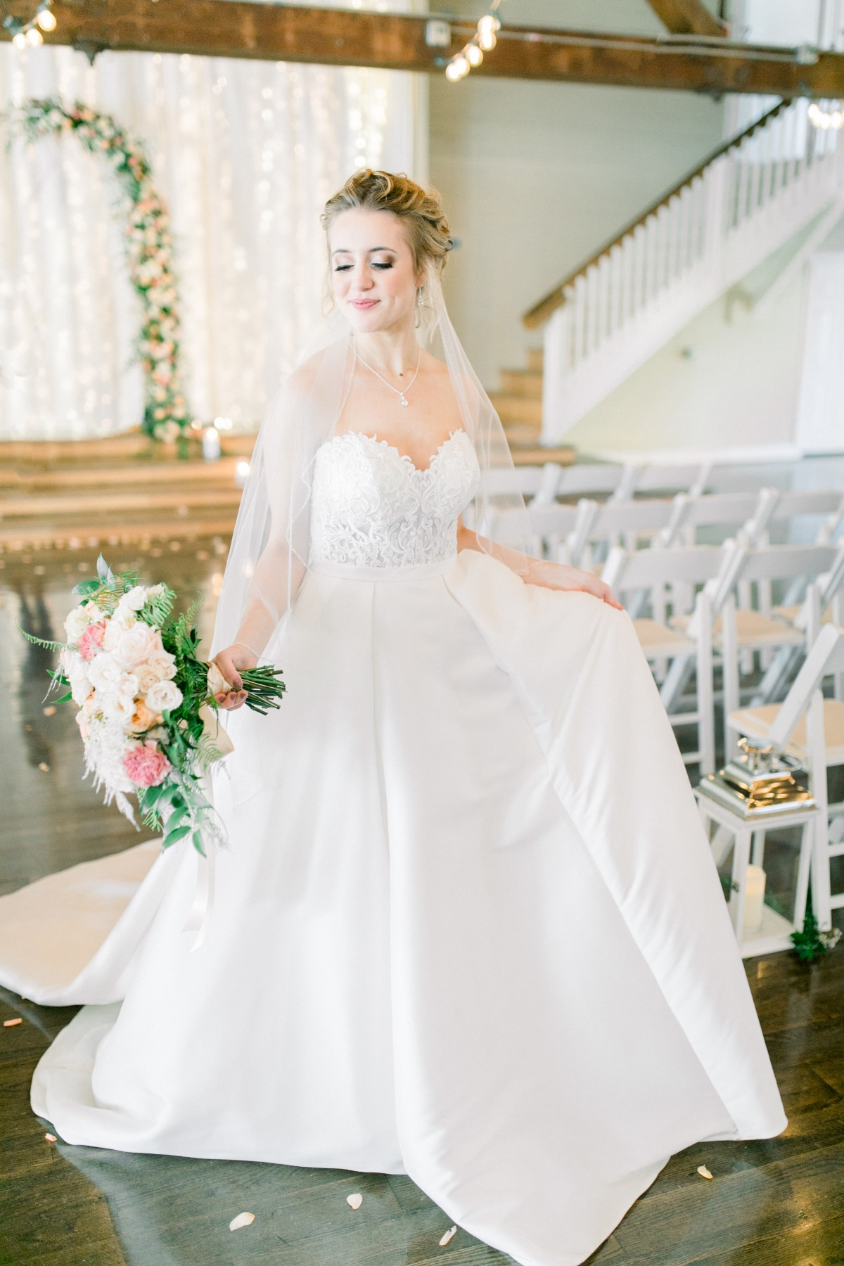 Elegant Miss Stella York wedding dress
