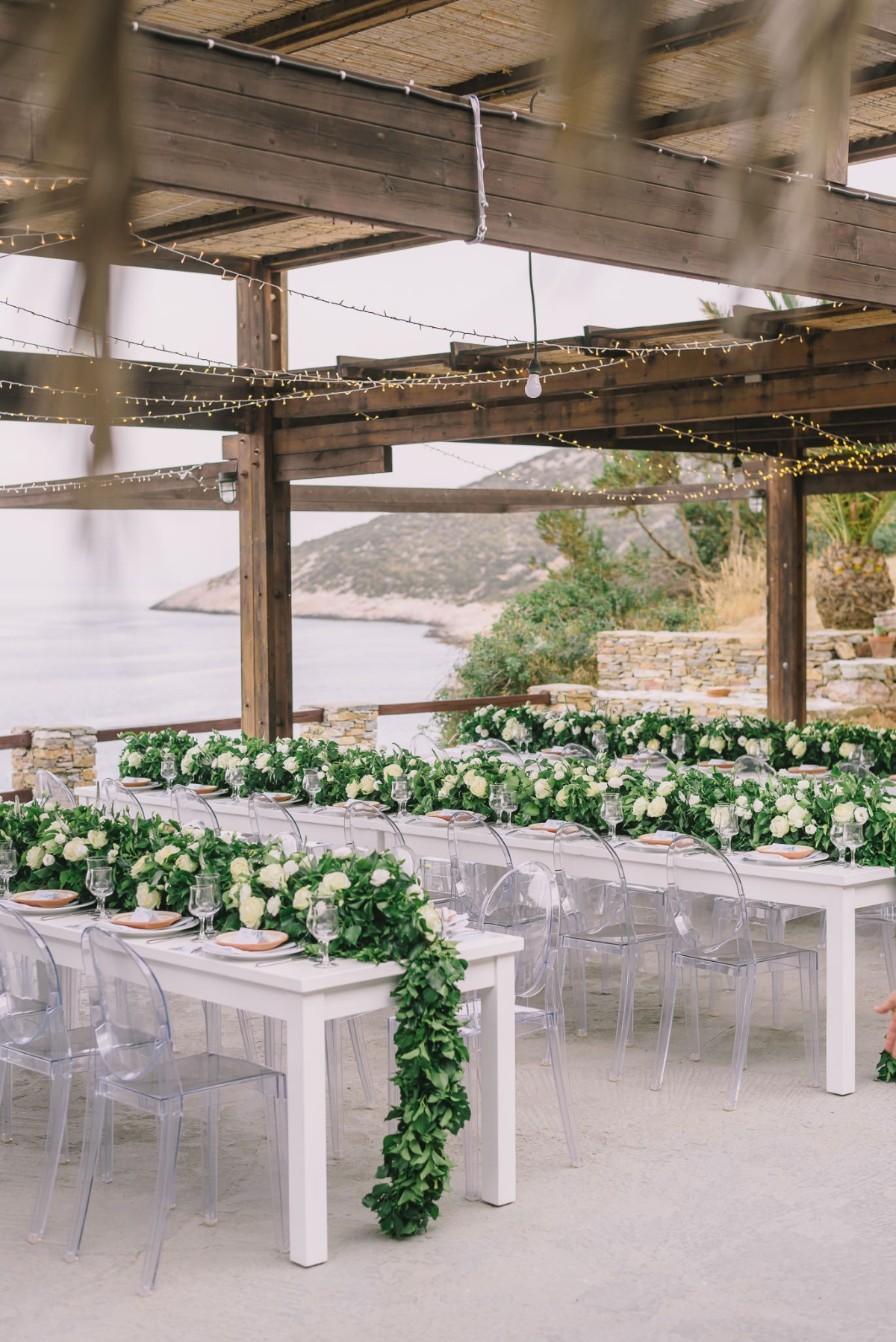 Seaside reception in Greece