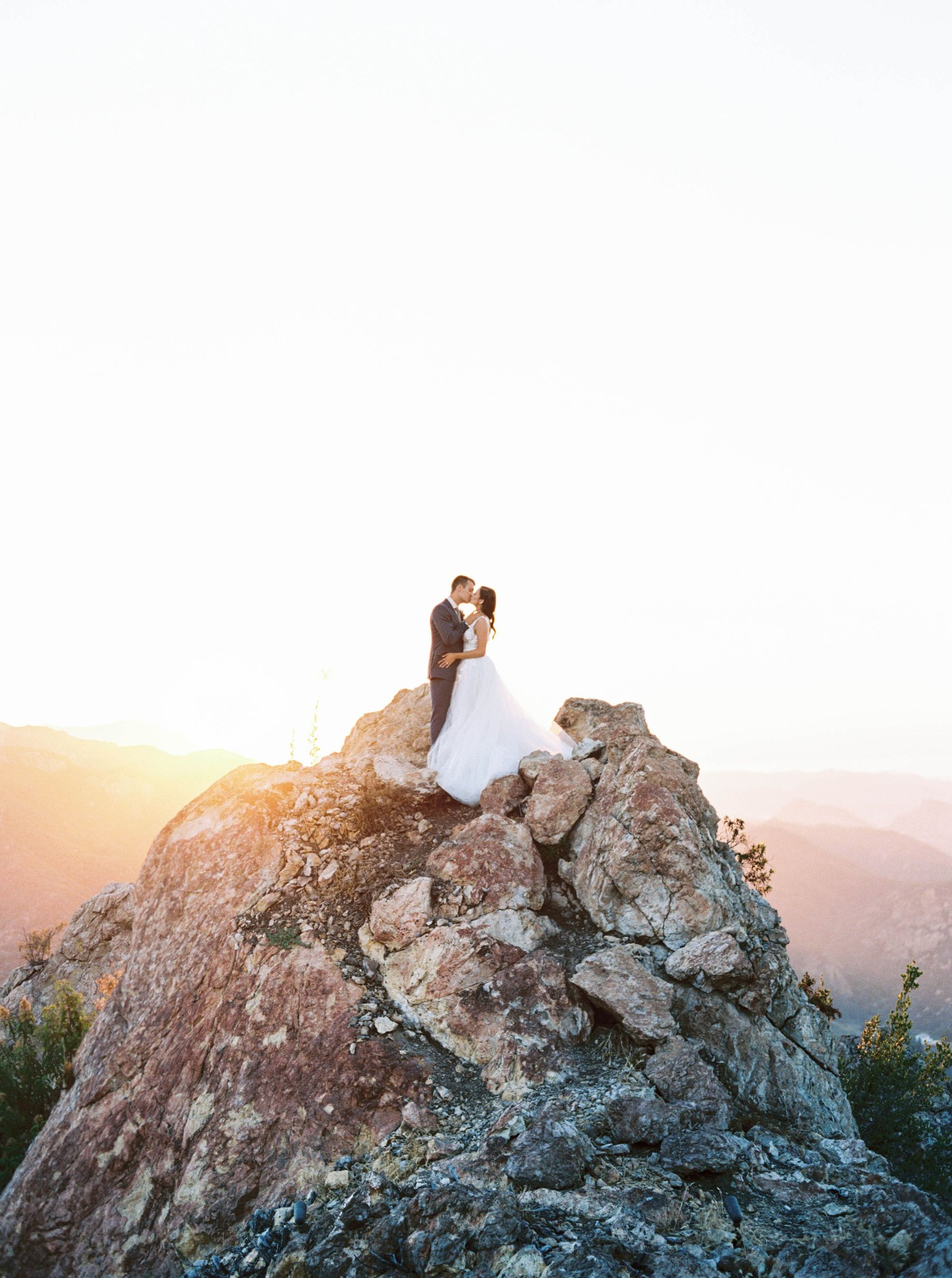 mountaintop kiss