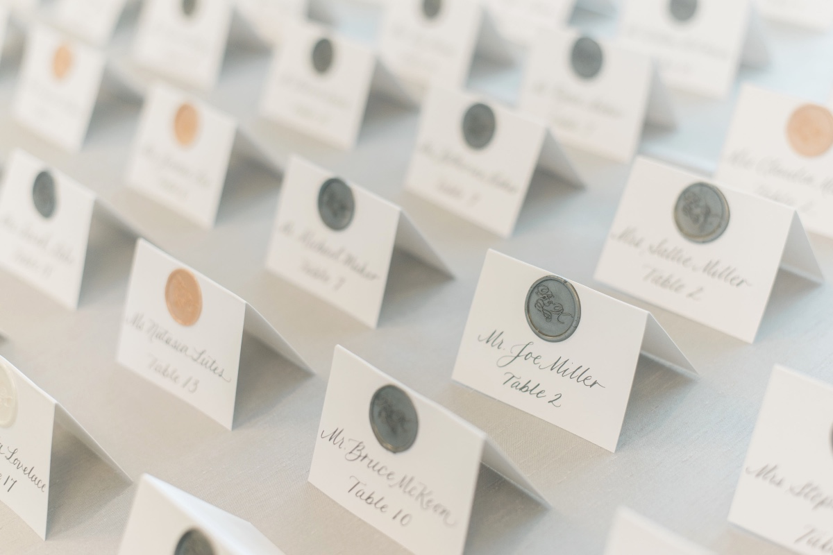 Escort card design