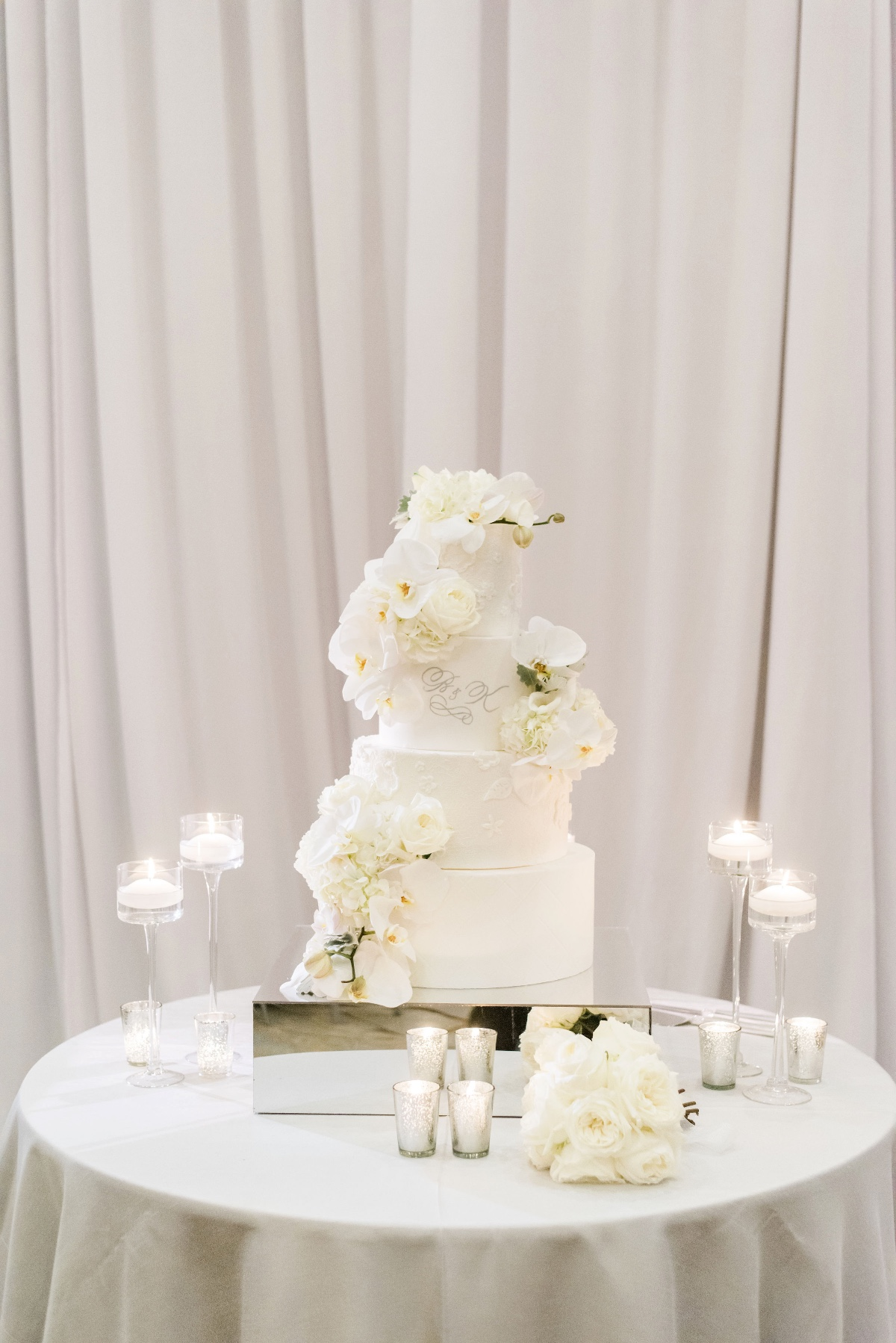 White four tier wedding cake
