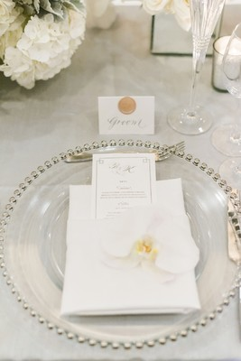 Luxury Glam Wedding in Silver and White