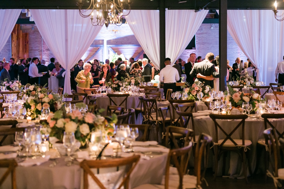 partitioned wedding space