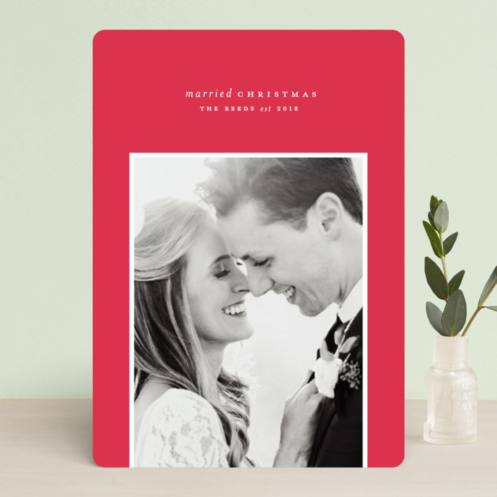 Married Christmas Minted Holiday Card