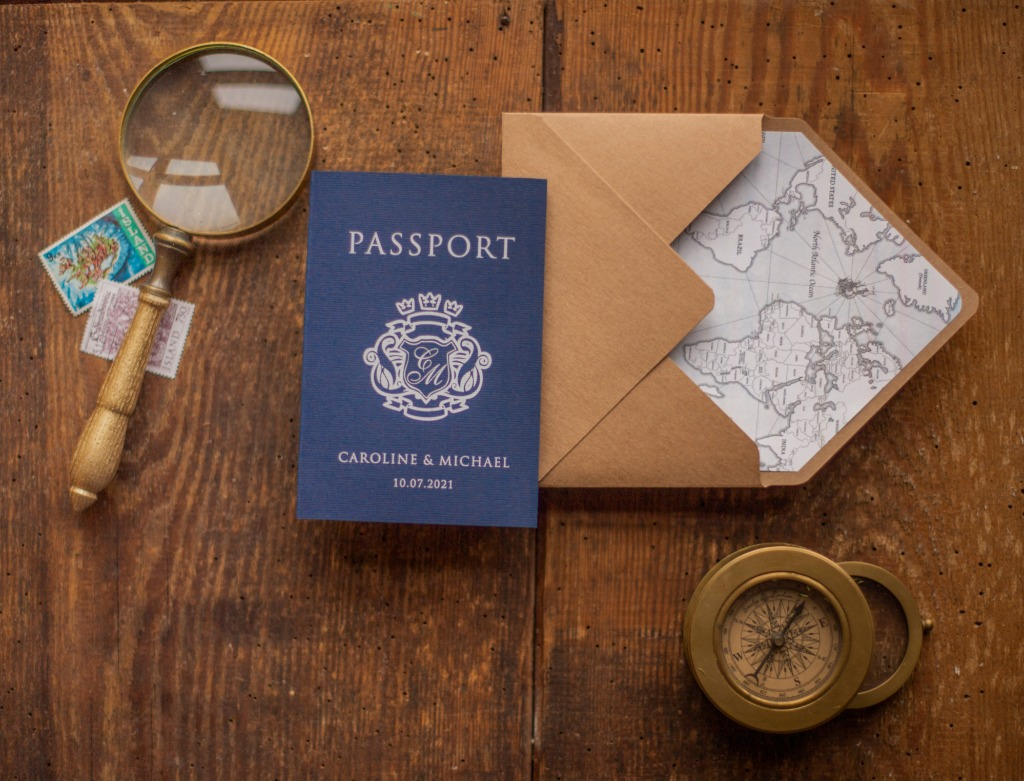 Wedding invitations - #passport