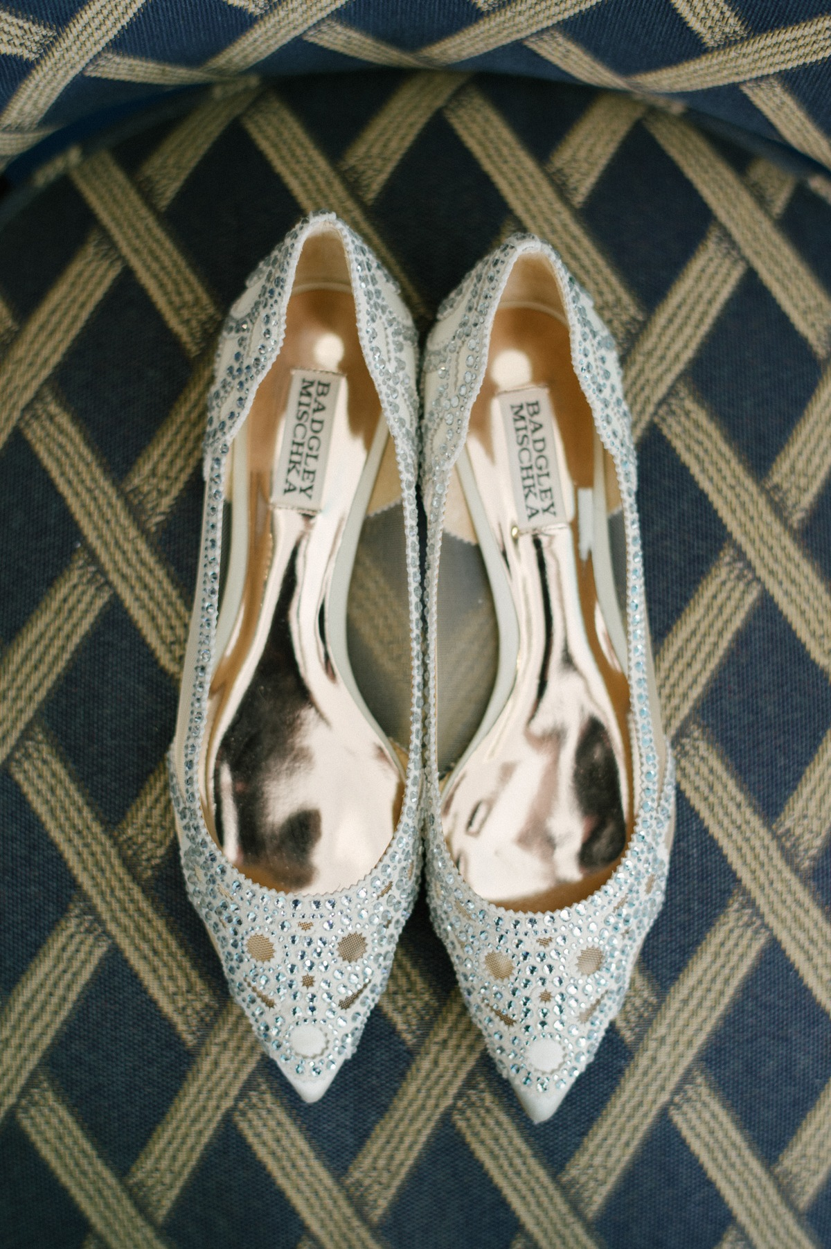 Badgley Mischka wedding flats