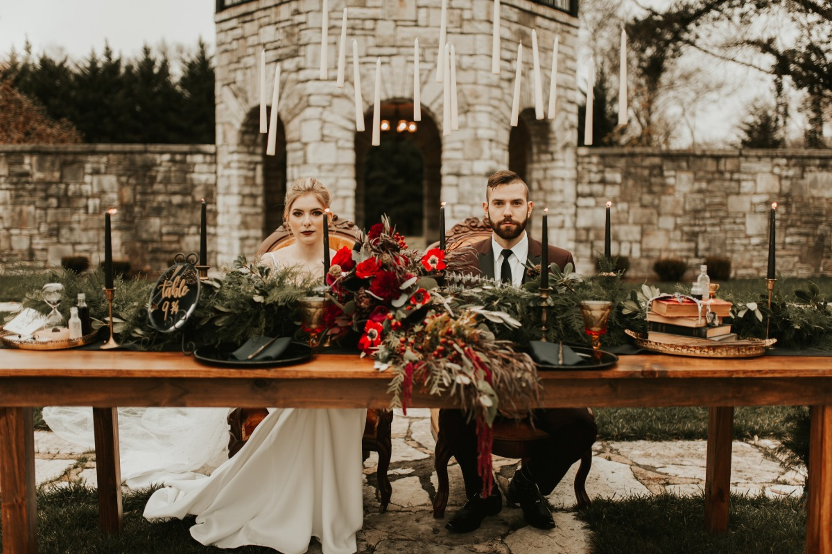 harry potter themed sweetheart table