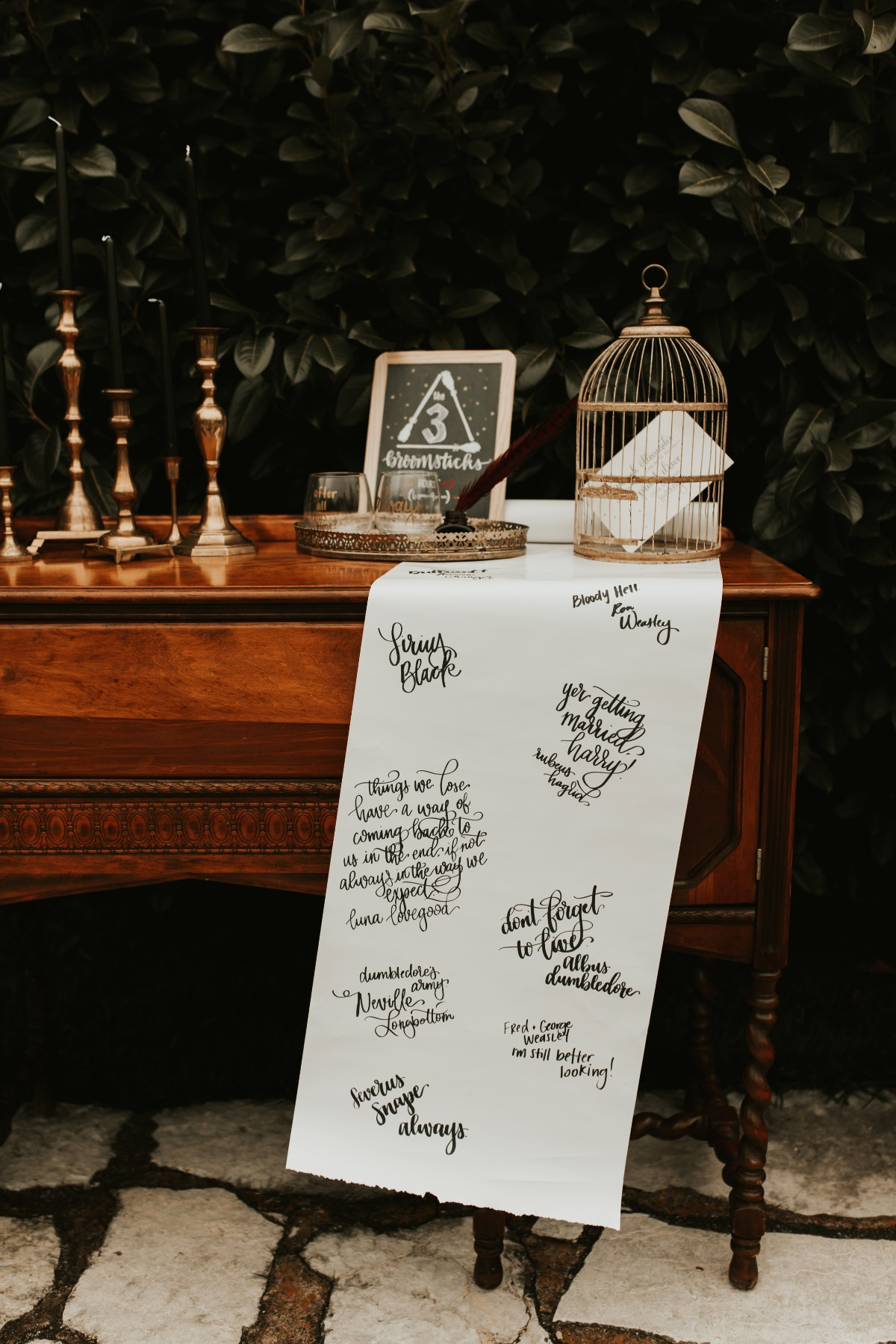 sweet guestbook sash idea