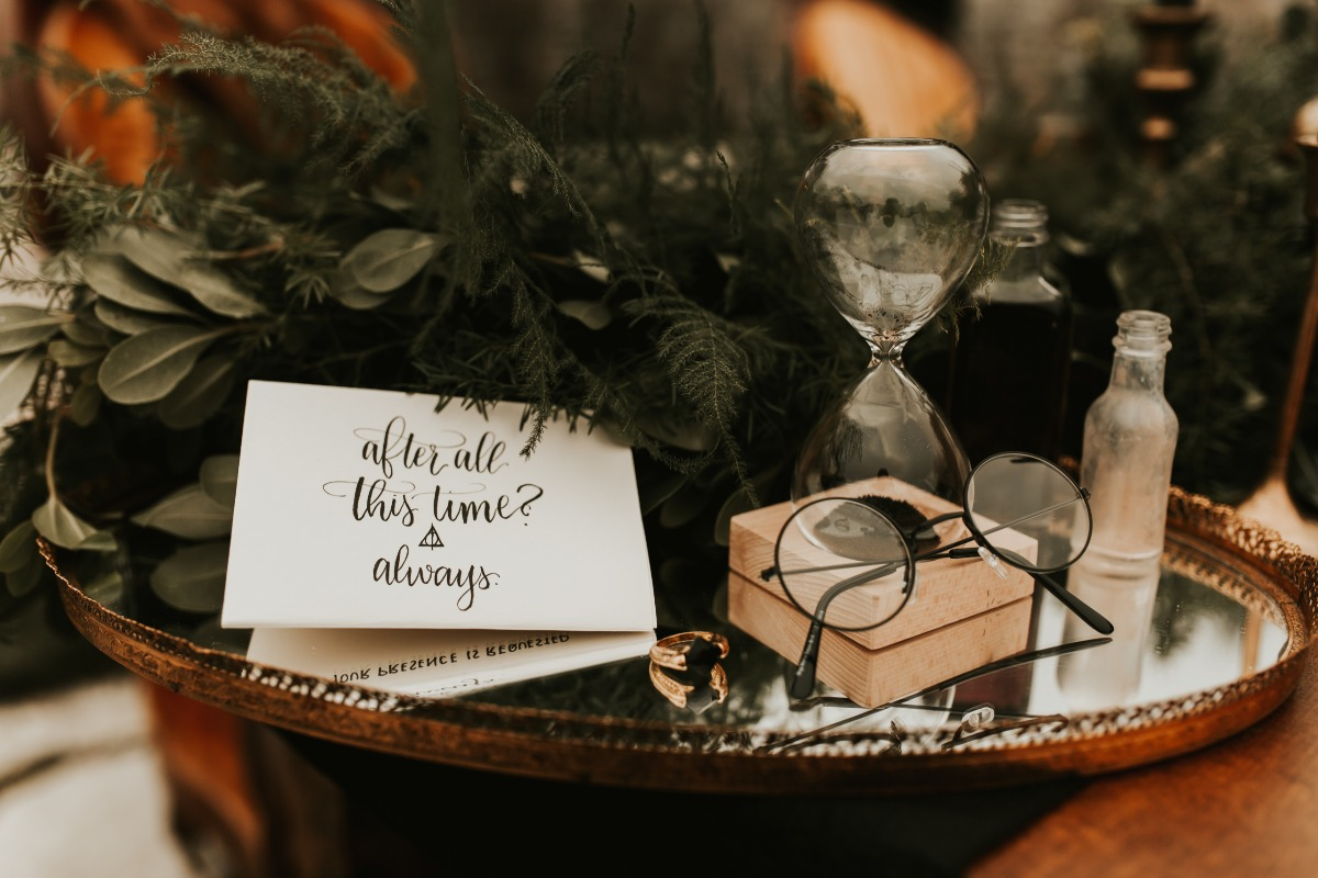 harry potter themed wedding decor