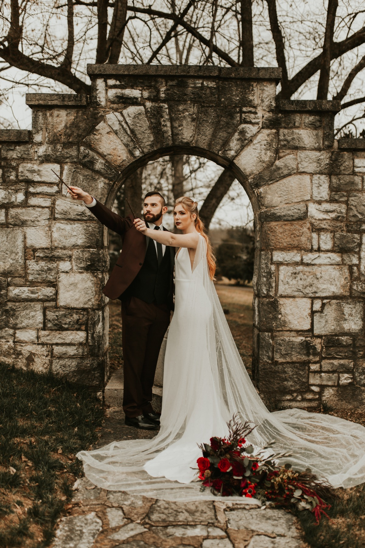 harry potter themed wedding photo ideas