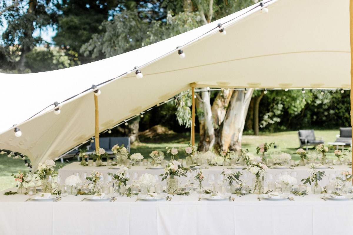 Tented reception in Saint Tropez