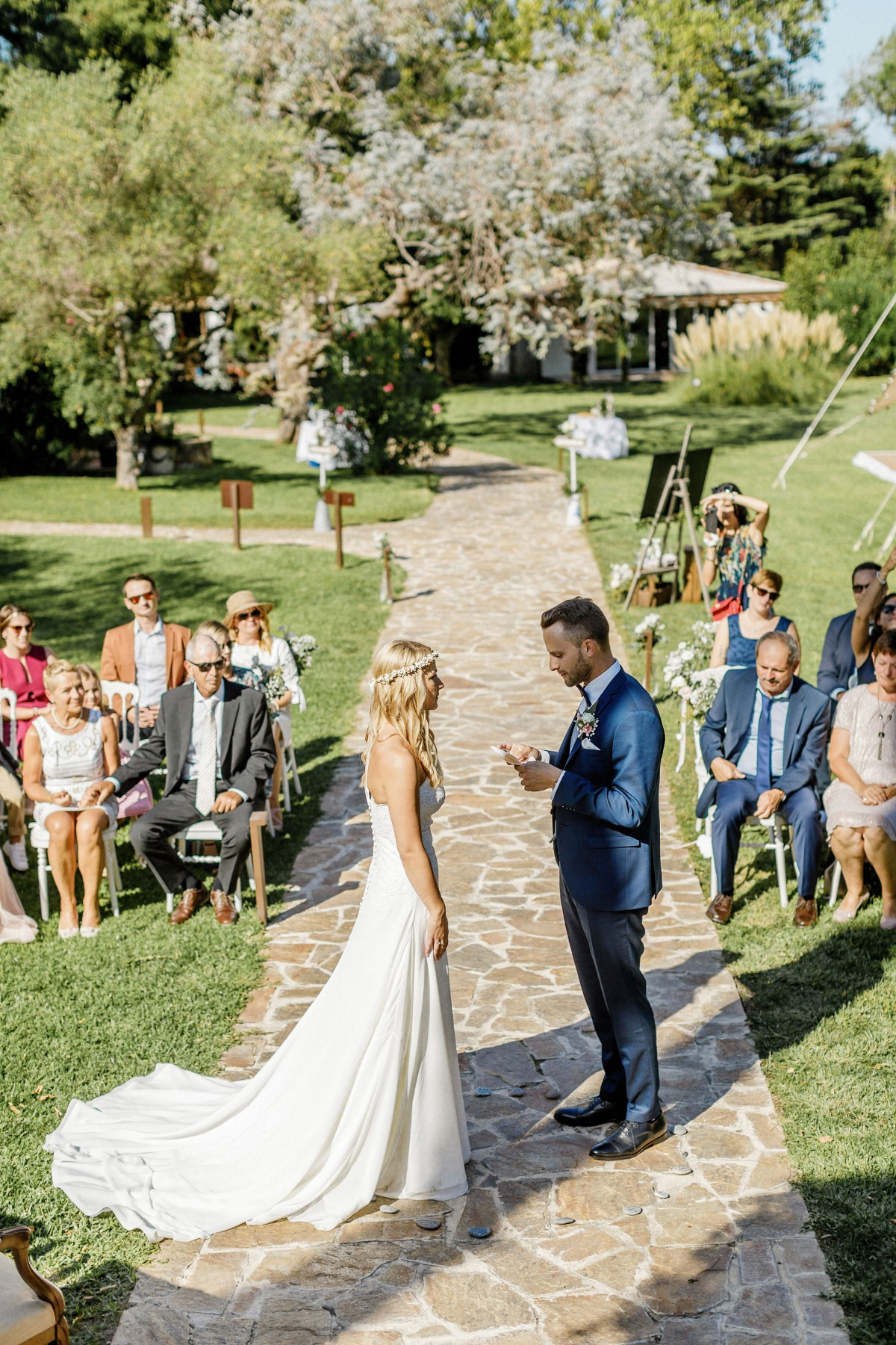 Garden wedding in Saint Tropez