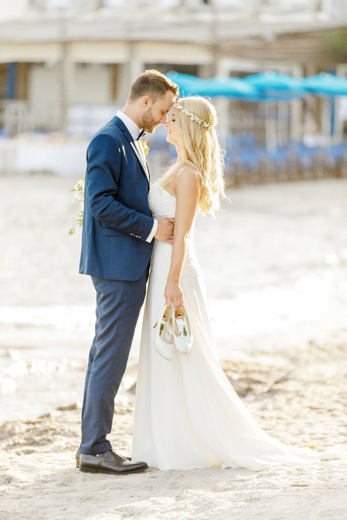 Romantic beach wedding in Saint Tropez