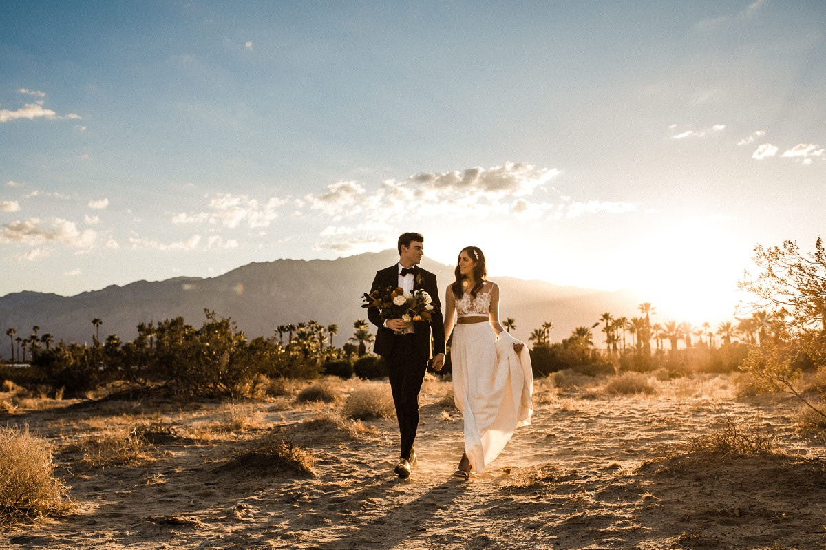 Modern chic wedding in Palm Springs