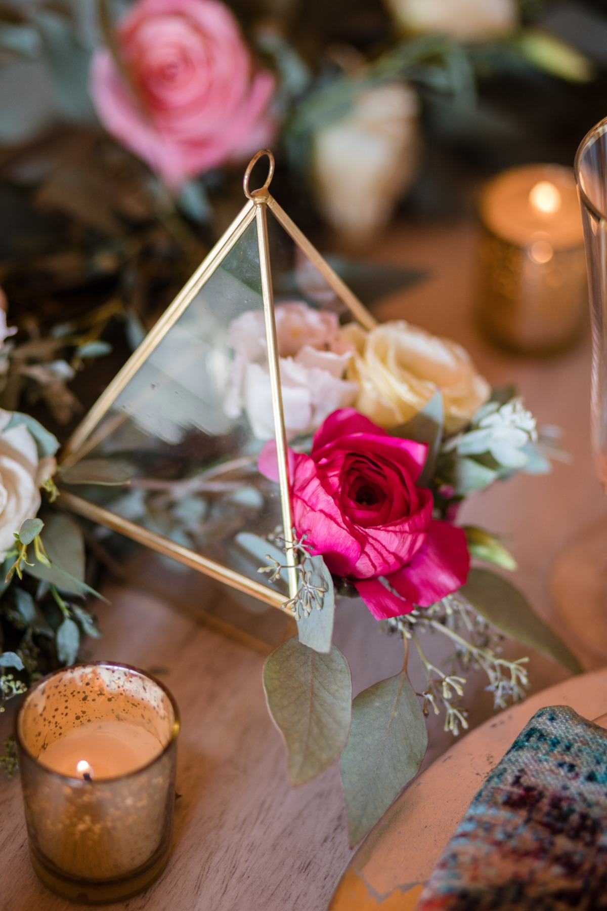 modern terrarium wedding centerpiece