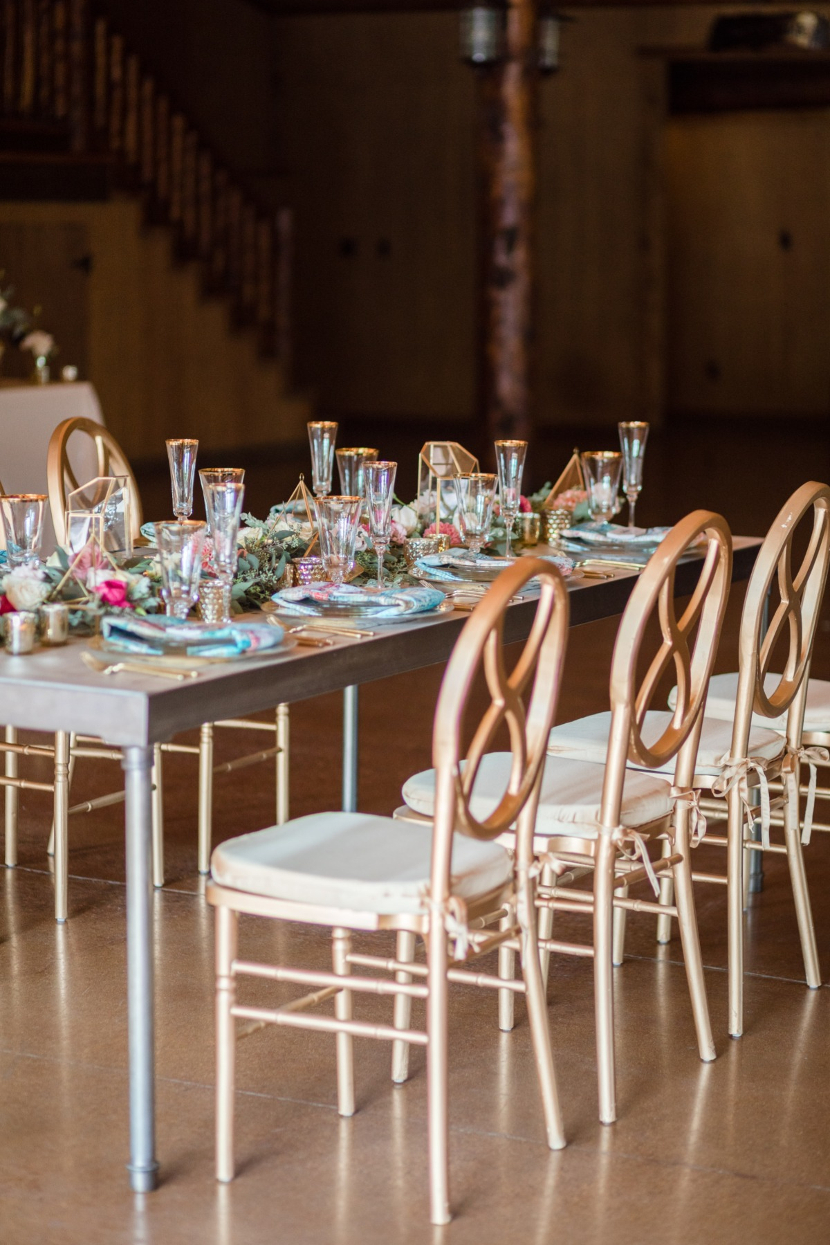 modern styled wedding table