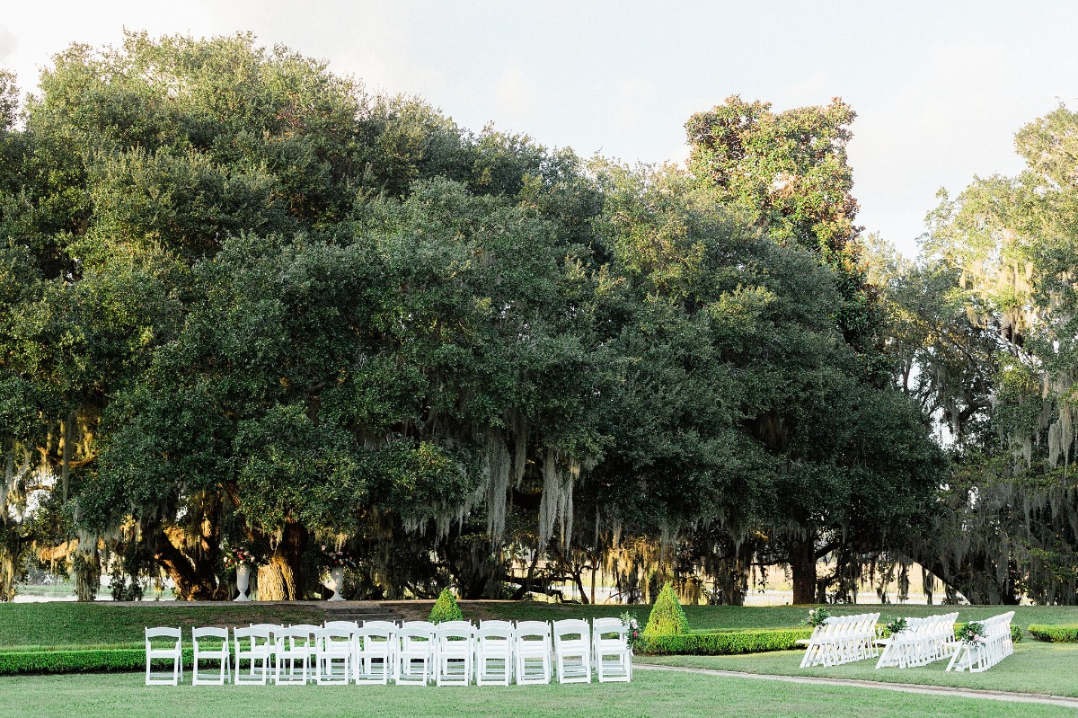 Outdoor ceremony in Charleston