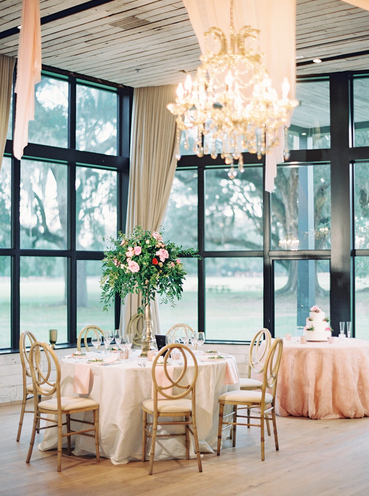 Rustic chic reception at Middleton Place Weddings
