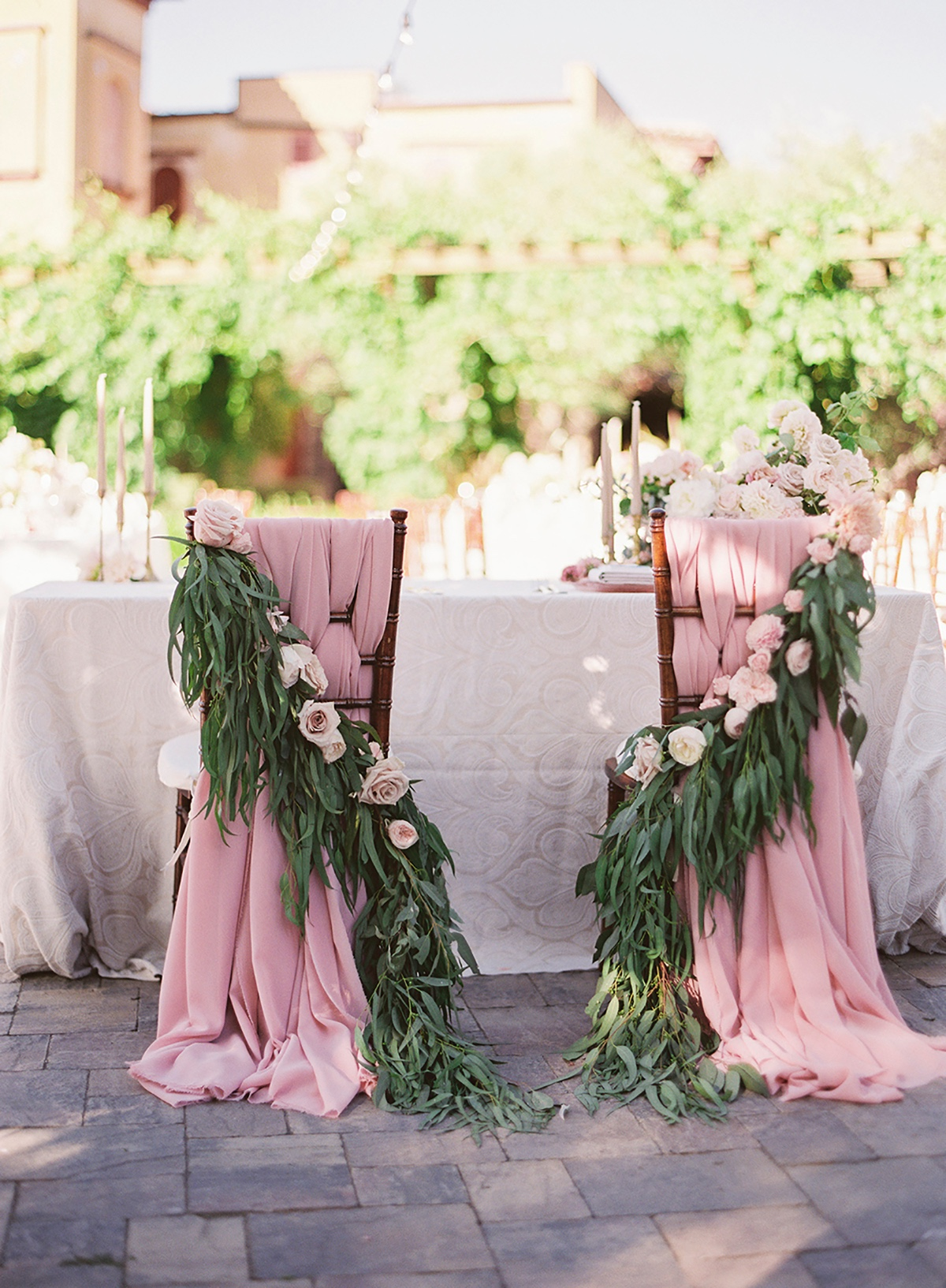 Romantic chair decor
