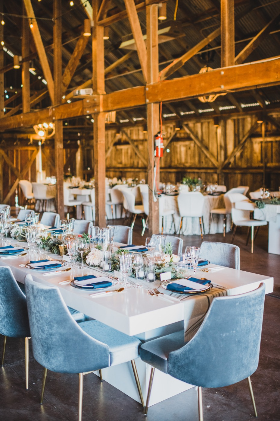 Blueprint Studios Blue Chair Wedding Rentals