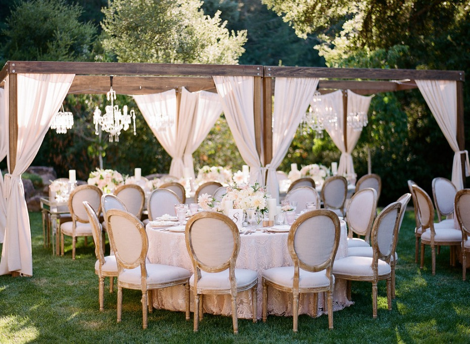 Blueprint Studios All White Outdoor Reception