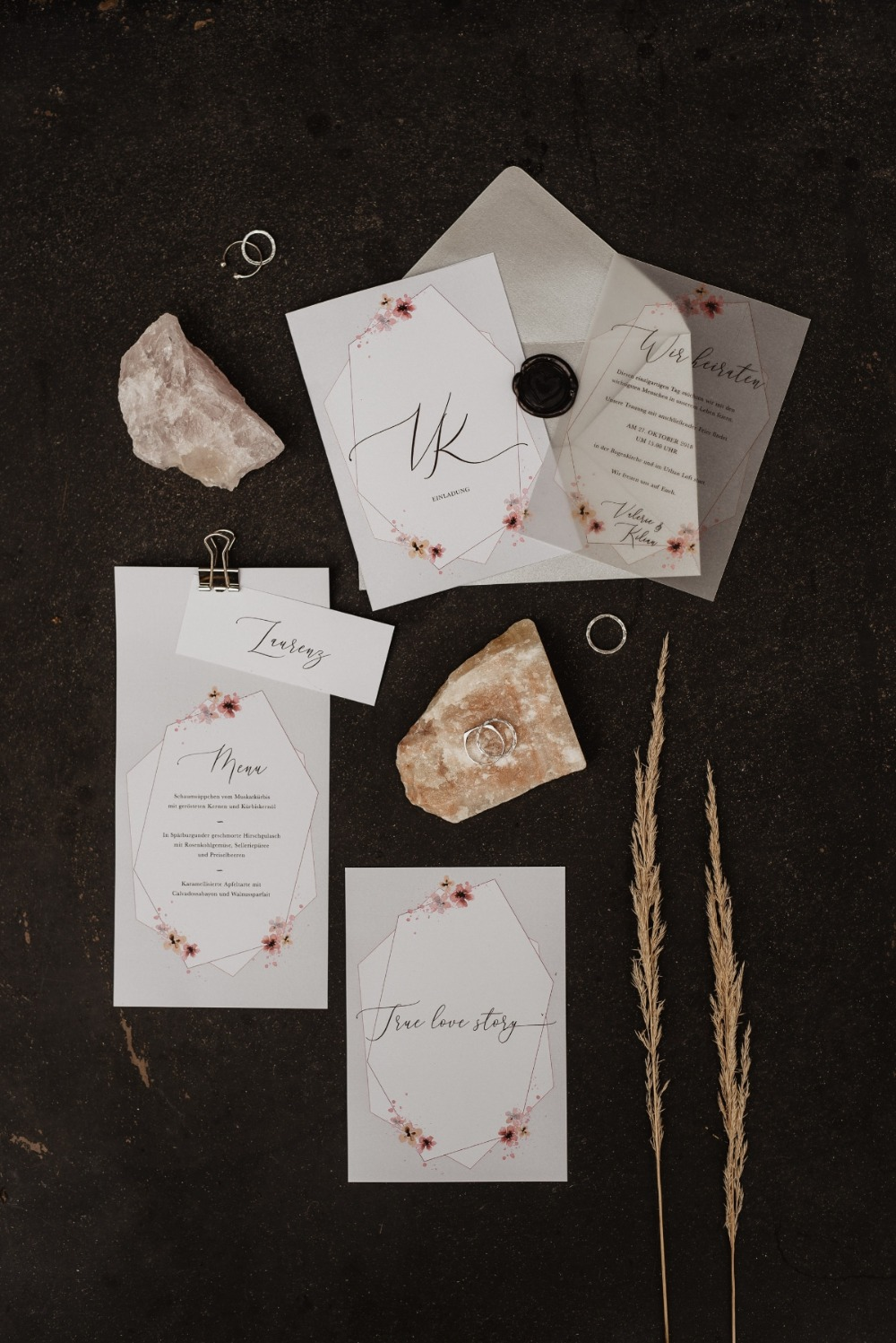 Modern minimal invitation suite