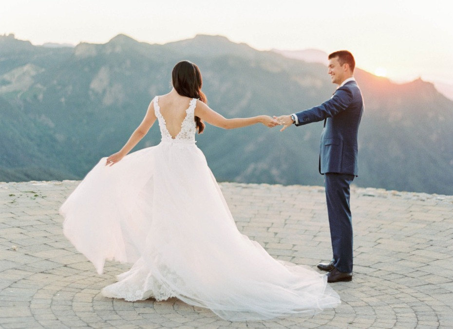 married on top of a mountain in California