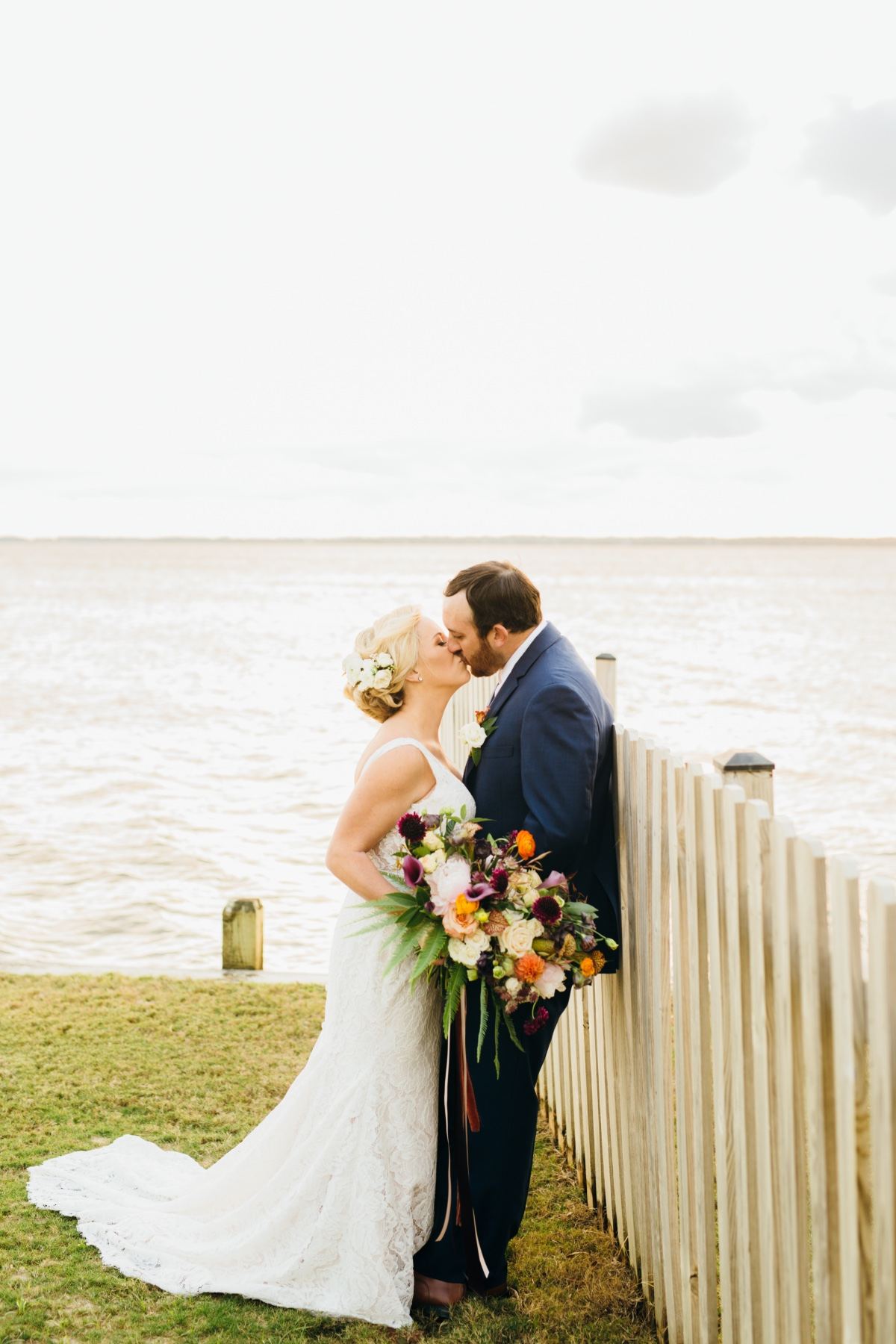 Sophisticated water front wedding