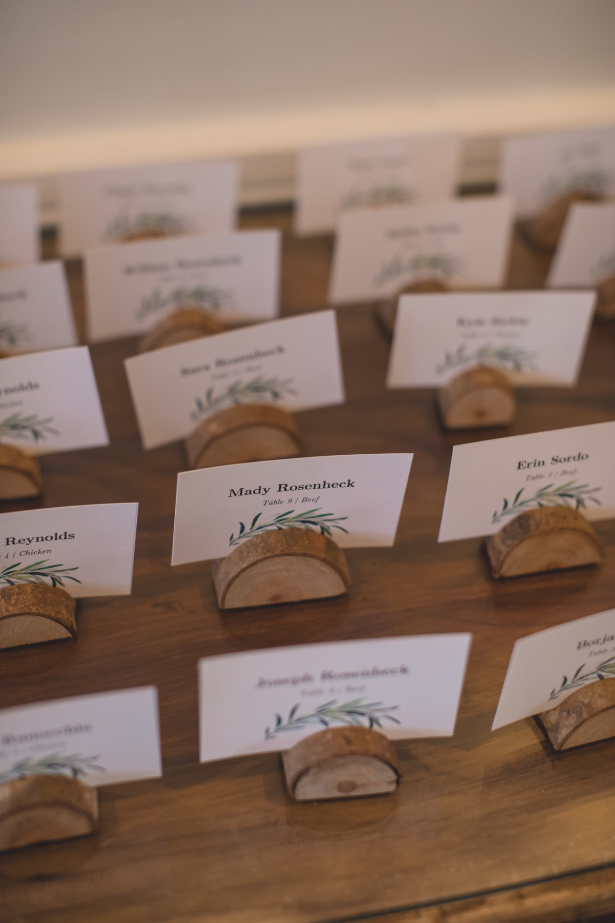 Wood stand escort card display