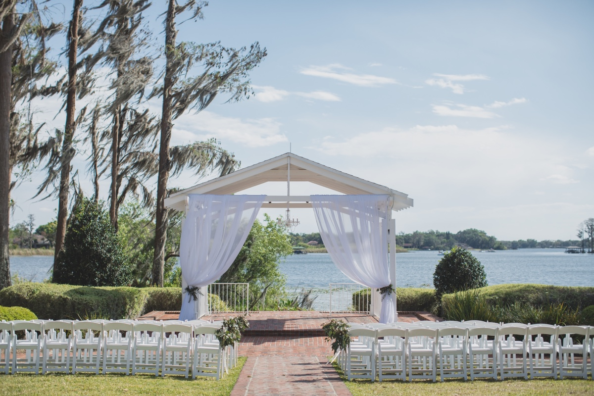 Lakefront wedding at Cypress Grove Estate House