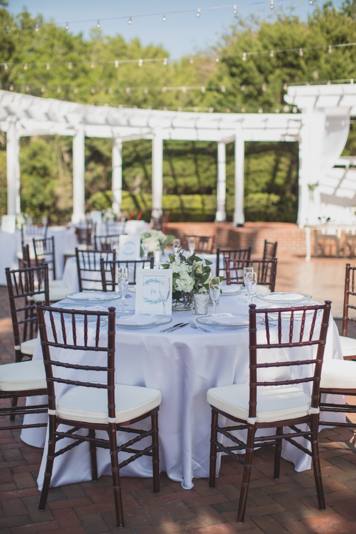 Green and white outdoor reception