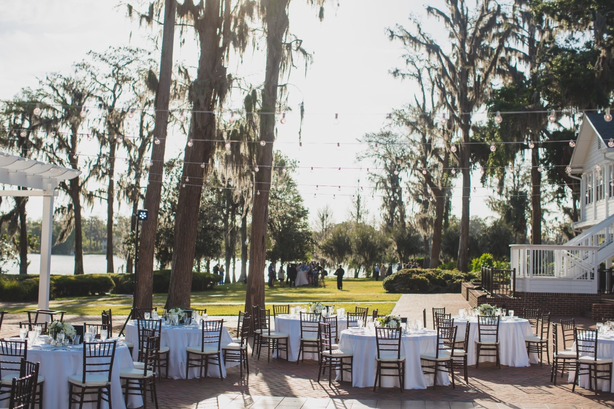 Outdoor reception at Cypress Grove Estate House