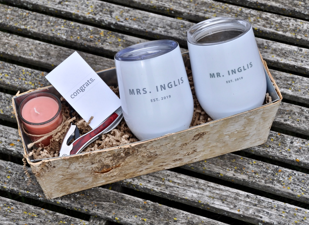 Wedding gifts for the bride and groom that they will cherish...customized, personalized and ready for a toast!