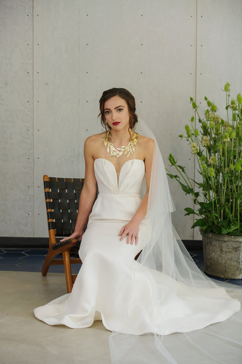 wedding dress from Belle Custom Atelier