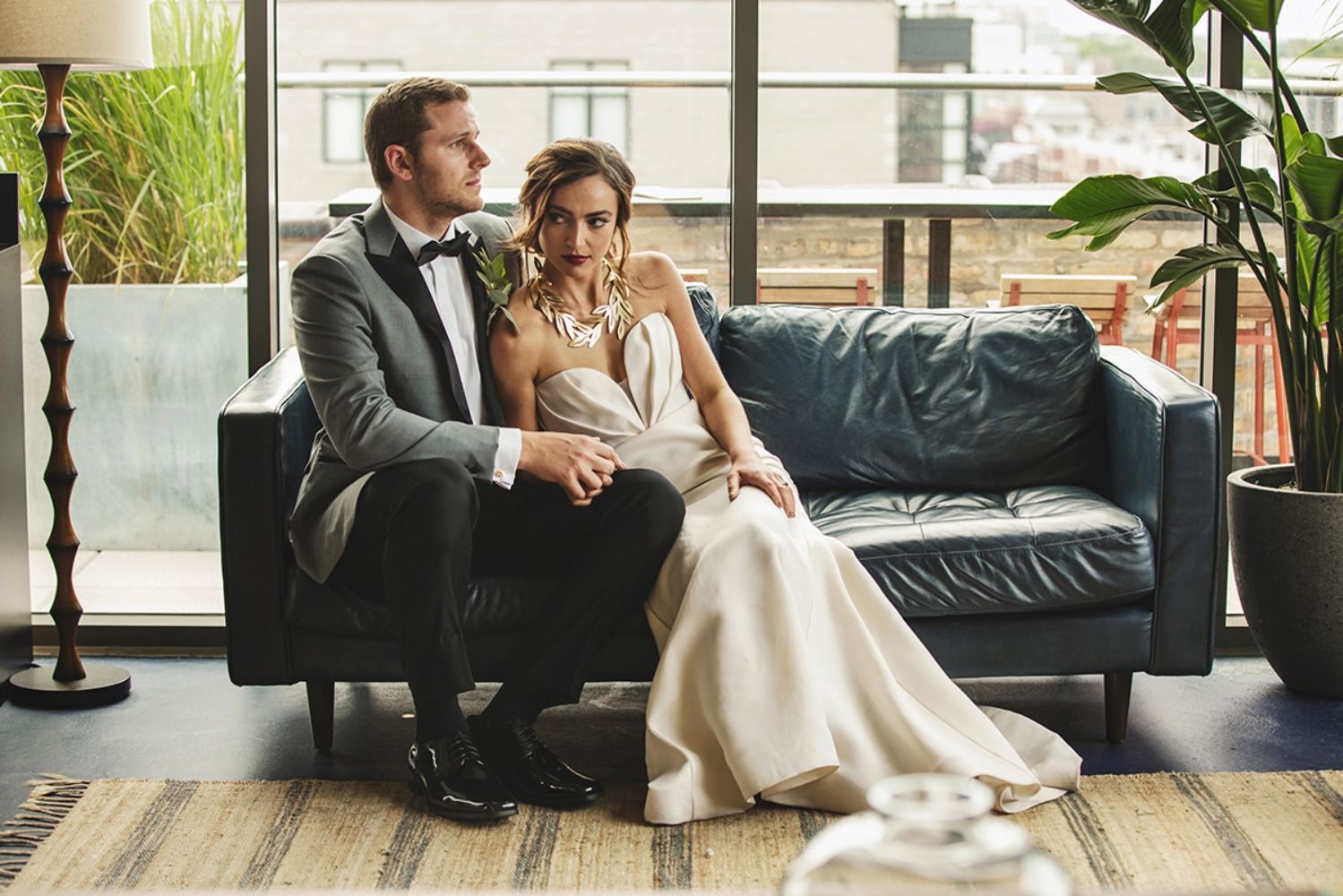 modern wedding lounge