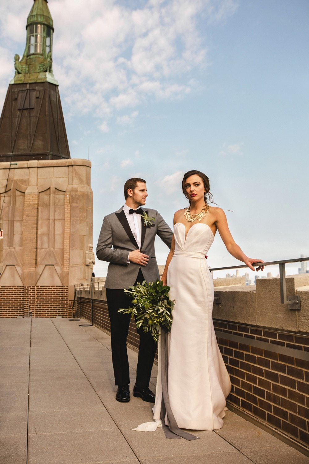 roof top wedding portraits on The Robey
