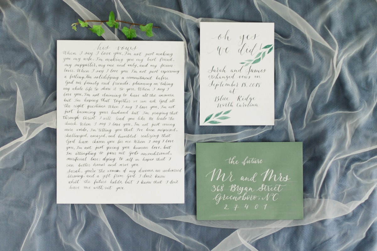 wedding vows and announcement